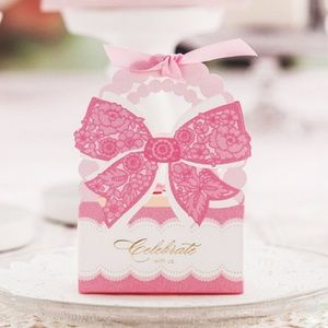 3 Pcs Fancy Floral Party Favor Boxes, Weddings 🌸